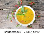 thai food curry chicken. | Shutterstock . vector #243145240