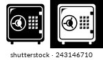 safe icon | Shutterstock .eps vector #243146710
