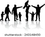 family silhouettes | Shutterstock .eps vector #243148450