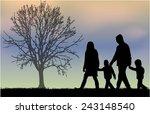 family silhouettes | Shutterstock .eps vector #243148540