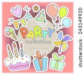 bright colorful invitation to a ... | Shutterstock .eps vector #243149920