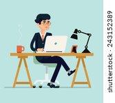 vector modern flat design... | Shutterstock .eps vector #243152389