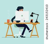 vector modern flat design... | Shutterstock .eps vector #243152410