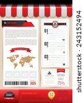 vector brochure template design ...   Shutterstock .eps vector #243152494
