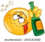 emoticon holding an alcoholic... | Shutterstock .eps vector #243152500