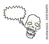 cartoon scary skull with speech ...   Shutterstock .eps vector #243156493