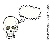 cartoon skull with speech bubble | Shutterstock .eps vector #243156556