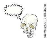 cartoon ancient spooky skull... | Shutterstock .eps vector #243160720