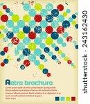 Retro Brochure With Color...