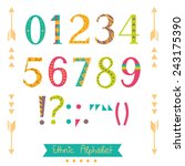 colorful ethnic numbers ... | Shutterstock .eps vector #243175390