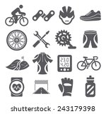 biking icons | Shutterstock .eps vector #243179398