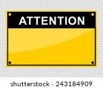 attention | Shutterstock .eps vector #243184909