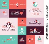 set of flat design valentines... | Shutterstock .eps vector #243190834