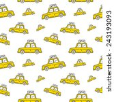 nyc yellow cab seamless vector... | Shutterstock .eps vector #243193093