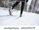 cross country skiing  close up | Shutterstock . vector #243199279