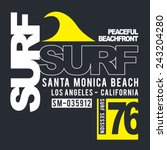 surf sport typography  t shirt... | Shutterstock .eps vector #243204280