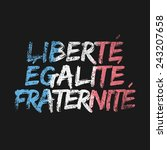 liberty equality fraternity | Shutterstock .eps vector #243207658