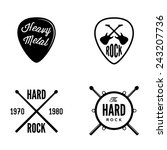 hard rock retro emblem | Shutterstock .eps vector #243207736
