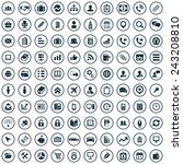 100 company icons big universal ... | Shutterstock .eps vector #243208810