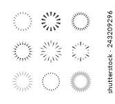 vector sparkles and stars set.... | Shutterstock .eps vector #243209296