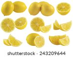 Постер, плакат: set of lemons and