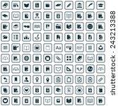 100 books icons big universal... | Shutterstock .eps vector #243213388