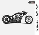 vintage motorcycle.vector   Shutterstock .eps vector #243215839