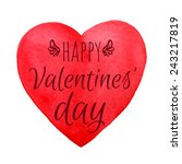 happy valentines' day... | Shutterstock .eps vector #243217819