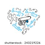 hand drawn bridal charm pin... | Shutterstock .eps vector #243219226