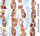 Постер, плакат: Fit female body isolated