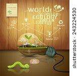 light bulb ecology concept... | Shutterstock .eps vector #243224530