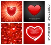 set of happy valentines day... | Shutterstock .eps vector #243232030