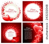 set of happy valentines day... | Shutterstock .eps vector #243232048