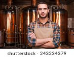 confident brewer. confident... | Shutterstock . vector #243234379