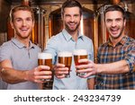 cheers to you  three cheerful... | Shutterstock . vector #243234739