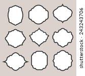 set of vector  silhouette... | Shutterstock .eps vector #243243706