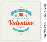 happy valentine's day greeting...   Shutterstock .eps vector #243247783
