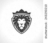 Lion Face Logo Emblem Template...