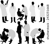 doctor and patient silhouette   ... | Shutterstock .eps vector #243251668