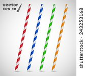 Set Drinking Straw. Vector...