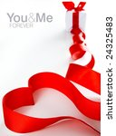 red heart next to the gift | Shutterstock . vector #24325483