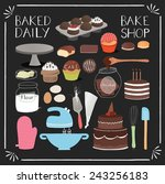 Set Of Baking Tools And Pastry...