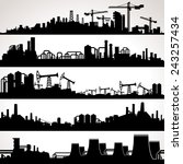 abstract industrial skyline.... | Shutterstock .eps vector #243257434