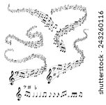 musical notes | Shutterstock .eps vector #243260116