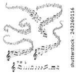 musical notes | Shutterstock .eps vector #243260116