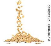 falling five marked golden... | Shutterstock .eps vector #243260830