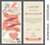 invitation flyer for a party on ... | Shutterstock .eps vector #243264166