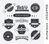 retro vintage insignias or... | Shutterstock .eps vector #243269908