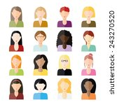 women icons | Shutterstock .eps vector #243270520