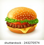 hamburger  vector icon   Shutterstock .eps vector #243270574